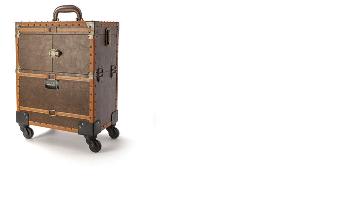 Evoqe Vintage Beauty Case with Wheels