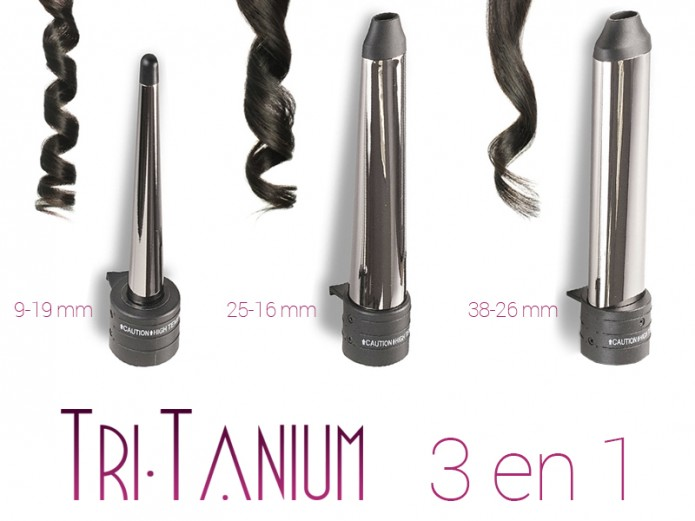 3 in 1 Interchangeable Oval Curler Tri-Tanium